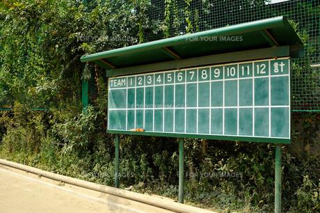野球得点板(横)の素材 [FYI00304883]