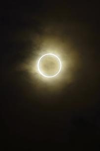東京から見た金環日食の写真素材 [FYI00305043]