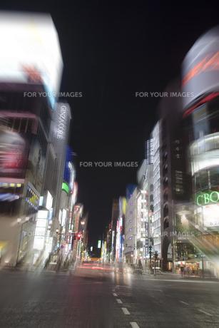 銀座四丁目夜景イメージの写真素材 [FYI00306527]