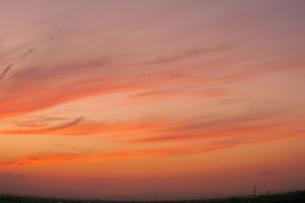 夕焼けの空の写真素材 [FYI00307401]