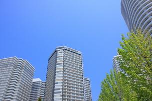 マンションと青空の写真素材 [FYI00307652]