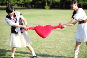 恋敵の二人の若い女性の写真素材 [FYI00307735]