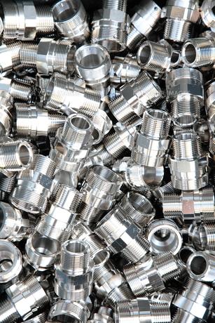 シルバーの金属部品の写真素材 [FYI00307737]