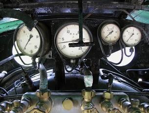 D51の運転室の圧力計の写真素材 [FYI00307855]