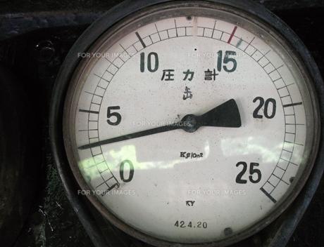 D51のボイラー圧力計の写真素材 [FYI00307863]