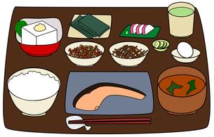 日本の朝食(カラー)の写真素材 [FYI00308073]