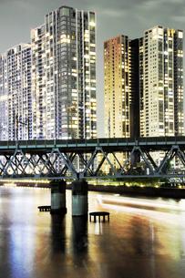 東京天王洲アイル 夜景の写真素材 [FYI00308494]
