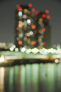 東京 お台場マンション群の夜景の写真素材 [FYI00308496]