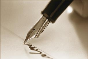 万年筆のペン先の写真素材 [FYI00308553]
