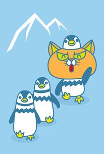 ペンギンの行進にまぎれる鮎太朗の写真素材 [FYI00308672]