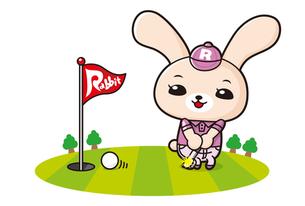 うさぎのゴルファーの写真素材 [FYI00308679]