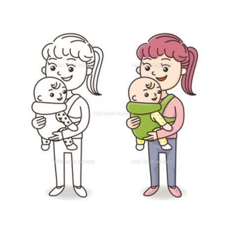 赤ちゃんとお母さんの素材 [FYI00308684]
