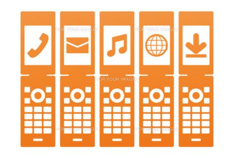 携帯電話の機能アイコンの素材 [FYI00308689]