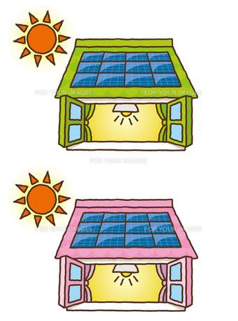 太陽光発電イラストの素材 [FYI00308691]