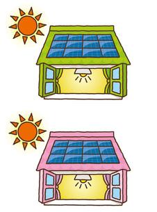 太陽光発電イラストの写真素材 [FYI00308691]
