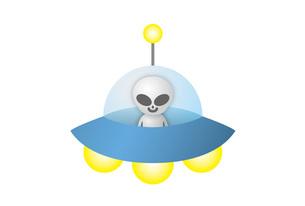 UFOに乗った宇宙人の写真素材 [FYI00308703]