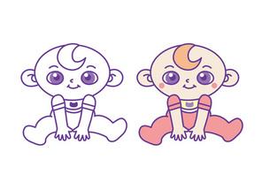 おすわりする赤ちゃんの写真素材 [FYI00308704]