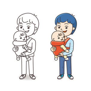 赤ちゃんとお父さんの写真素材 [FYI00308705]