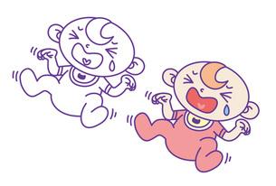 泣いてる赤ちゃんの写真素材 [FYI00308710]