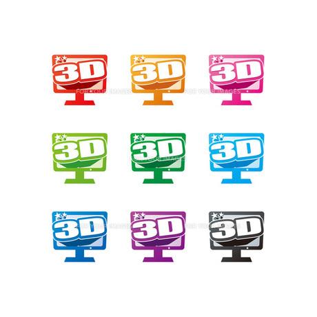3DTV ICONの素材 [FYI00308712]