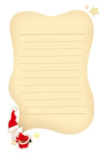 サンタクロースのメッセージカードの素材 [FYI00308718]