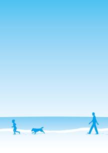 海岸を散歩する家族の写真素材 [FYI00308726]