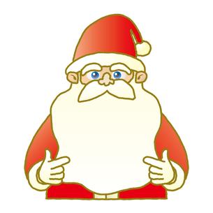 サンタクロースのメッセージボードの写真素材 [FYI00308728]