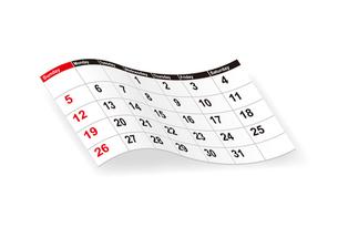 カレンダーの写真素材 [FYI00308734]