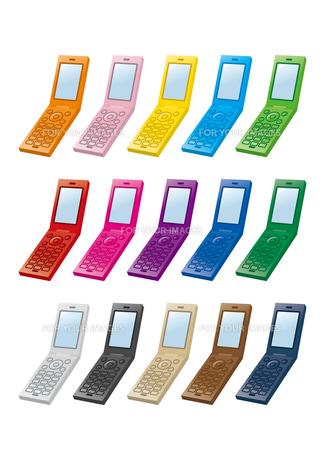 携帯電話カラーバリエーションの素材 [FYI00308740]