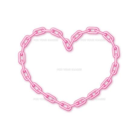 鎖のハートの素材 [FYI00308745]