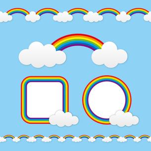 虹のフレームの写真素材 [FYI00308753]