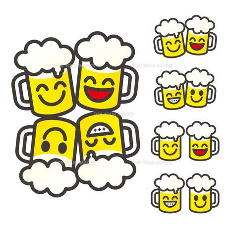 ビールジョッキで乾杯の素材 [FYI00308809]