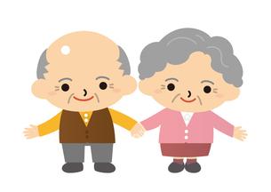 手をつないで微笑む老夫婦の写真素材 [FYI00308840]