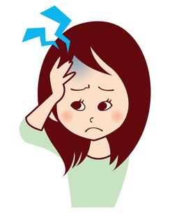 女性の頭痛の写真素材 [FYI00309639]