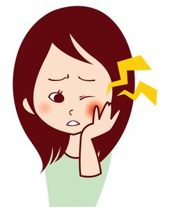 女性の歯痛の写真素材 [FYI00309661]