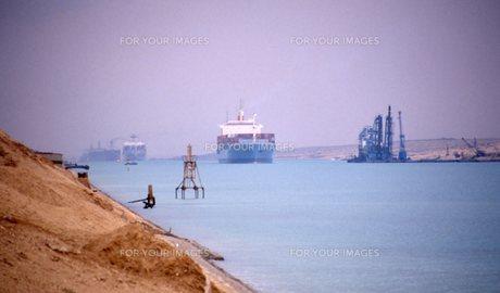 スエズ運河の写真素材 [FYI00309924]