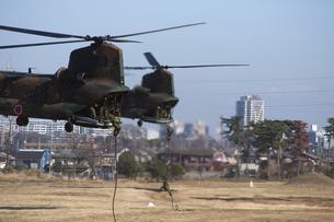 CH-47チヌーク 降下地点の写真素材 [FYI00310690]