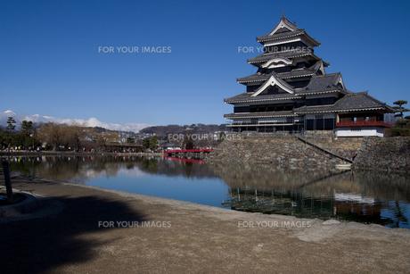 青空と城の写真素材 [FYI00310703]