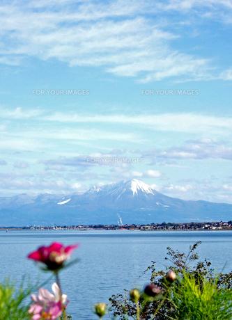 本庄から鳥取県大山を眺めての写真素材 [FYI00310942]