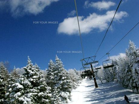 スキー場のリフトの写真素材 [FYI00311461]