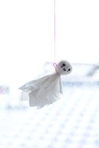 てるてる坊主をティッシュペーパーで作りましたの写真素材 [FYI00311507]