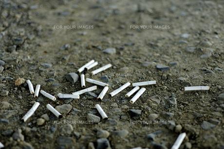 吸い過ぎ注意 ポイ捨てやめようの写真素材 [FYI00311552]