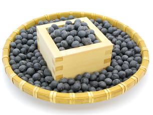 黒豆と升とざるの写真素材 [FYI00311571]