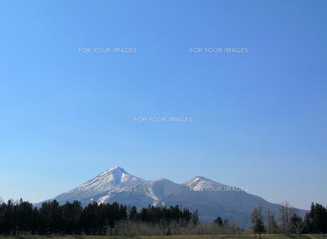 青空と磐梯山の素材 [FYI00311585]