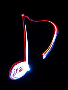光線画 8分音符の写真素材 [FYI00311621]