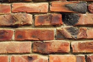 焼きレンガの壁の写真素材 [FYI00311654]
