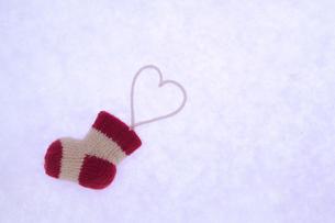 クリスマス 靴下とハートの素材 [FYI00311732]