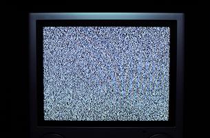 アナログテレビのノイズ画面の写真素材 [FYI00311847]