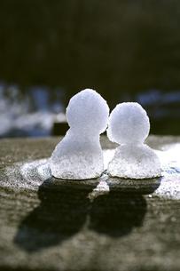 雪だるま 2つの写真素材 [FYI00311882]