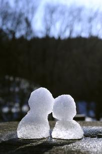 雪だるま 2つの写真素材 [FYI00311883]